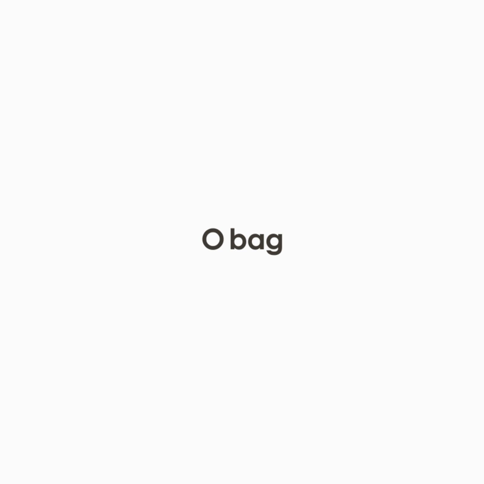 O bag mini   .bobble stitch wool inner bag with drawstring
